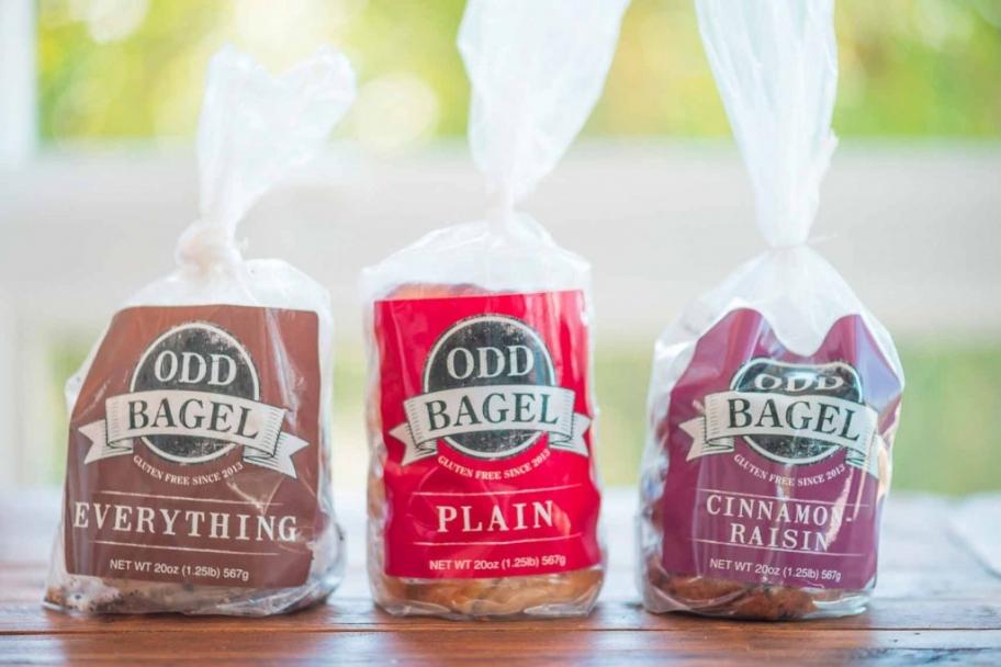 The Odd Bagel -- gluten free, egg free everything bagel